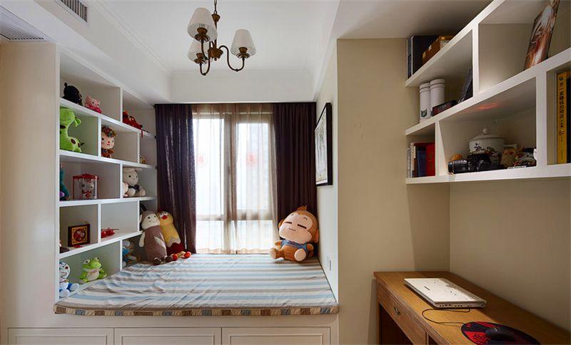 一,儿童房飘窗装修设计之书桌改造图片