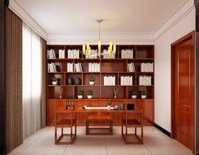 110平米三中式风格书房图片大全