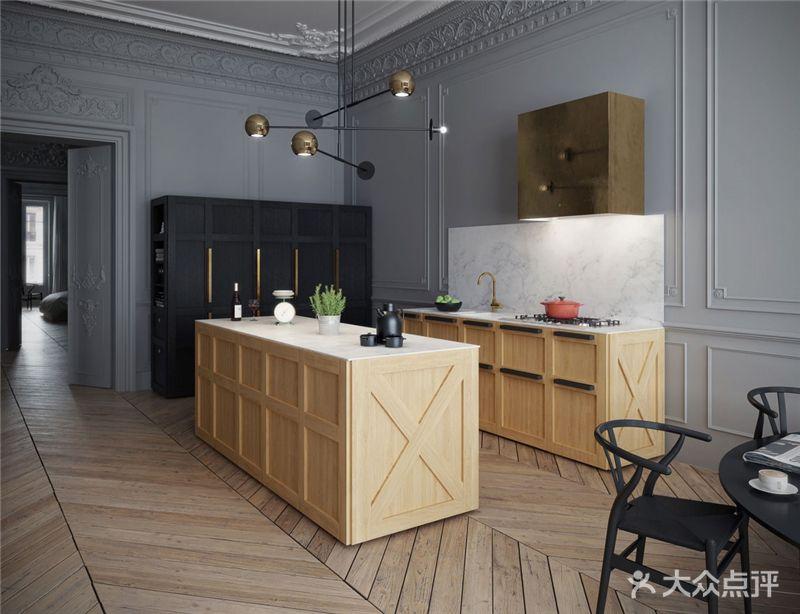 130平米三室一厅混搭风格厨房效果图
