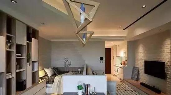 35平原木色单身公寓设计,长条形空间一点都不昏暗!