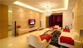 10-15万130平米三室两厅现代简约风格客厅图片大全