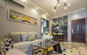 110平米三室兩廳中式風格客廳沙發設計圖