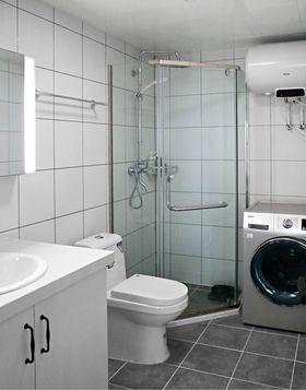 60平米一居室现代简约风格卫生间图