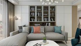 110平米三室一廳現代簡約風格客廳裝修圖片大全