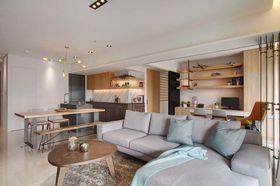 120平米四室两厅现代简约风格客厅图
