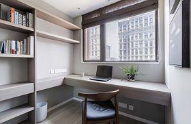 130平米三室两厅现代简约风格书房图