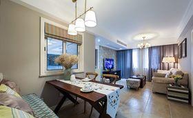 5-10万90平米三室一厅美式风格餐厅图