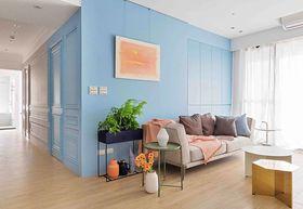 80平米三室兩廳混搭風格客廳圖片