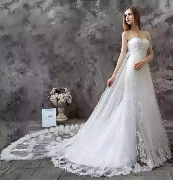 如何看脖子的长短选择婚纱