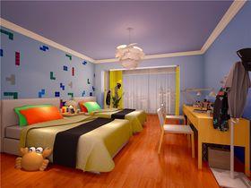 5-10万120平米四室一厅现代简约风格儿童房设计图