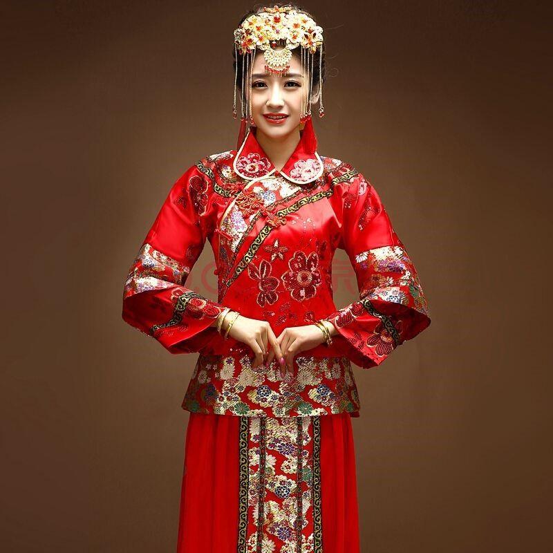 中式新娘服传统,典雅有韵味
