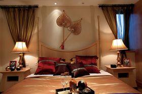 120平米東南亞風格臥室背景墻圖片