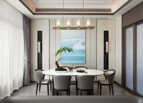 140平米復式中式風格餐廳設計圖
