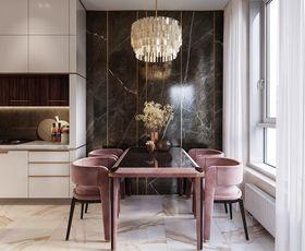 110平米三室兩廳現代簡約風格餐廳效果圖