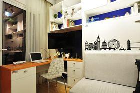 40平米小户型现代简约风格书房图片