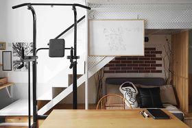 120平米复式北欧风格餐厅图