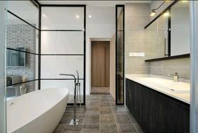110平米三室一厅混搭风格卫生间欣赏图