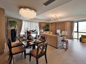 100平米三室一廳混搭風格餐廳欣賞圖