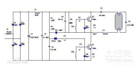 日光灯镇流器接线图谁有