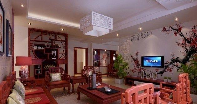 25万300平米中式别墅装修 感受中国传统文化