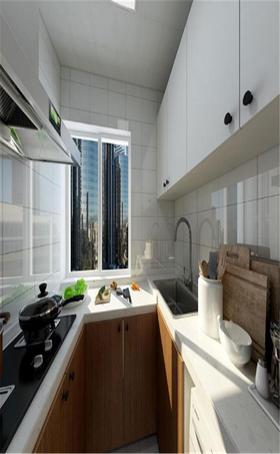 70平米现代简约风格厨房图片