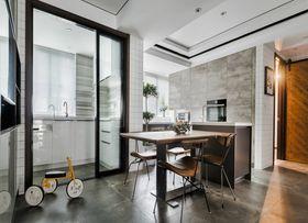 110平米三室一厅混搭风格餐厅装修案例