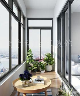 110平米三室两厅现代简约风格阳台图