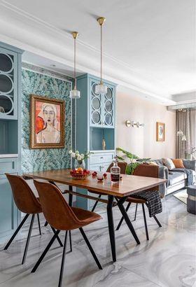 90平米三室两厅美式风格餐厅图片大全