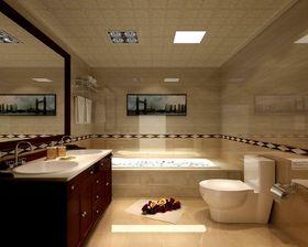 经济型130平米三室两厅现代简约风格卫生间图片