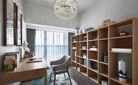 110平米三室两厅中式风格书房设计图