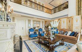 140平米复式英伦风格客厅设计图