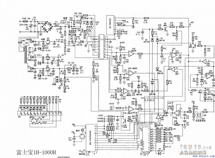 求富士宝电磁炉电路图