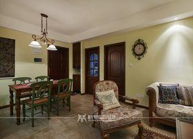 90平米三室两厅美式风格客厅装修效果图