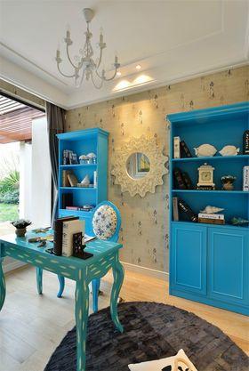 140平米三室三厅地中海风格书房装修案例