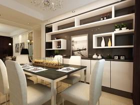 10-15万110平米四室两厅现代简约风格餐厅效果图
