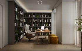 豪华型140平米四室两厅现代简约风格书房图