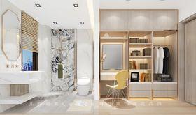 130平米三室两厅现代简约风格衣帽间装修效果图