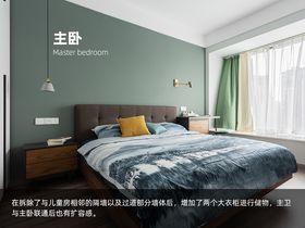 110平米三室一厅北欧风格卧室图片