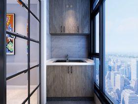 80平米现代简约风格阳台设计图