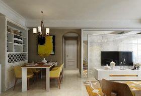 90平米现代简约风格客厅吧台图片