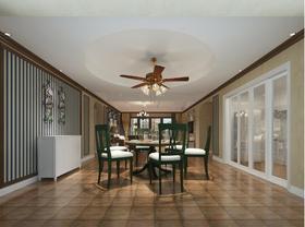 140平米四田园风格餐厅设计图