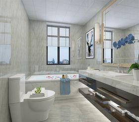 90平米三室两厅中式风格卫生间图片大全
