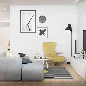 富裕型110平米三室一厅日式风格影音室设计图