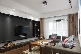 120平米三室兩廳北歐風格客廳沙發設計圖