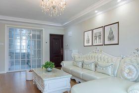 经济型90平米三室一厅现代简约风格客厅图