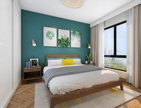 90平米美式风格卧室图