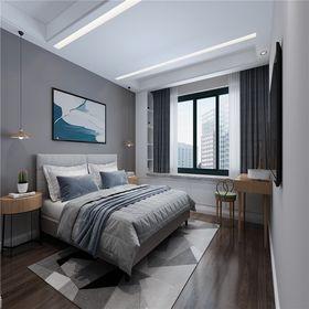 110平米三室两厅北欧风格卧室装修效果图