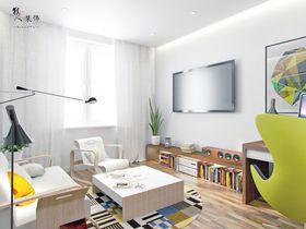 120平米三室两厅北欧风格客厅图片