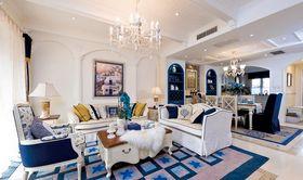 80平米复式地中海风格客厅设计图