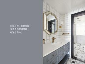 120平米三室两厅现代简约风格卫生间图片大全